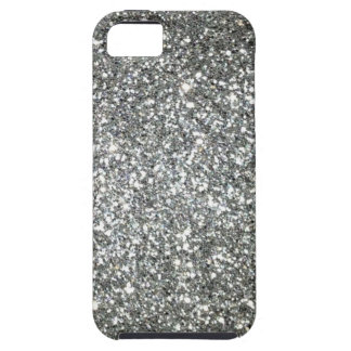 Silver Glitter Glamour Tough iPhone 5 Case