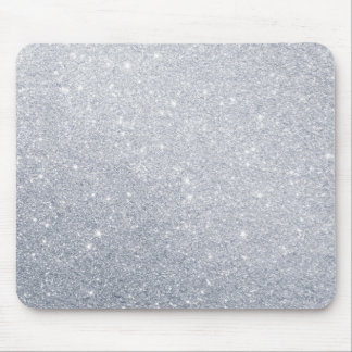 silver glitter grey faux effect mouse mat
