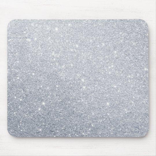 silver glitter grey faux effect mouse mat