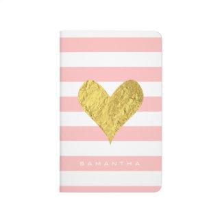 Silver Glitter Heart Journal