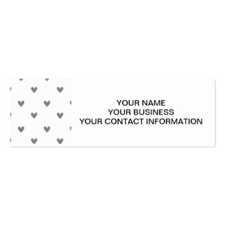 Silver Glitter Hearts Pattern Pack Of Skinny Business Cards