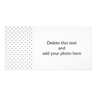 Silver Glitter Hearts Pattern Personalized Photo Card