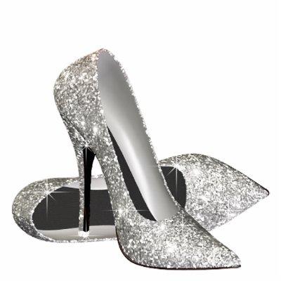 Elegant Hot Pink Glitter High Heel Shoes Standing Photo Sculpture ... beabf9bee0a7