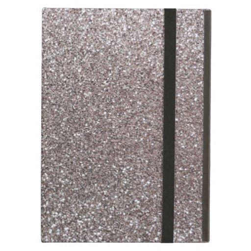 Silver glitter iPad case