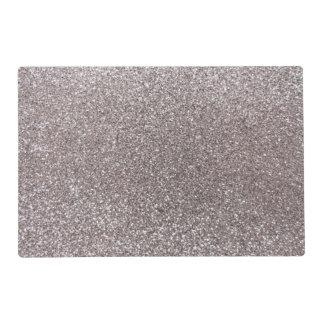 Silver glitter laminated place mat