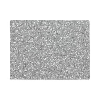 Silver Glitter Look-like Pattern Doormat