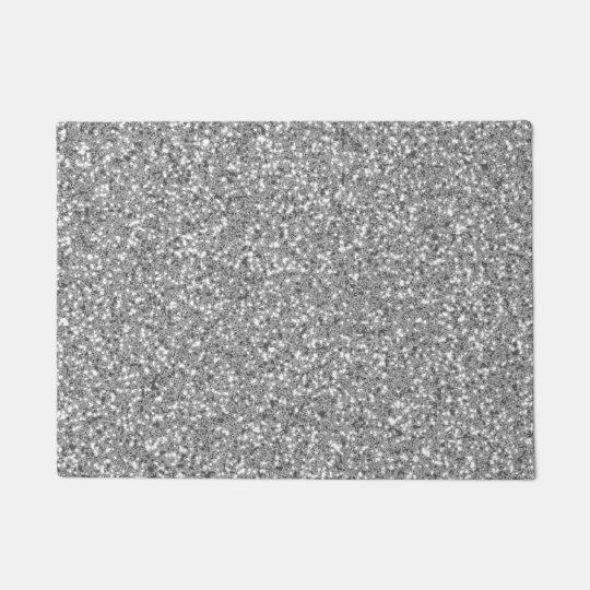 Silver Glitter Look-like Pattern Doormat