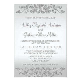 White And Silver Weding Invitations 023 - White And Silver Weding Invitations