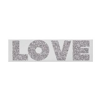 Silver Glitter Love Canvas Prints