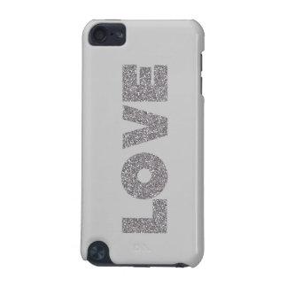 Silver Glitter Love iPod Touch 5G Case