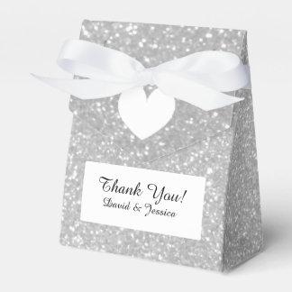 Silver glitter luxury style wedding favor box favour box