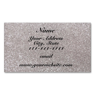 Silver glitter magnetic business cards (Pack of 25)
