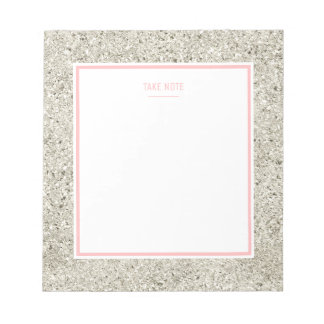 Silver Glitter Notepad