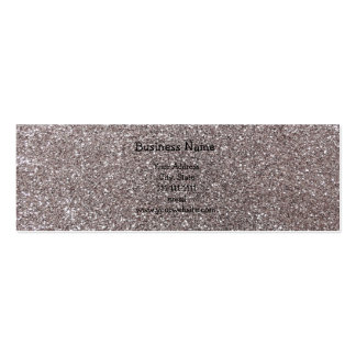 Silver glitter pack of skinny business cards