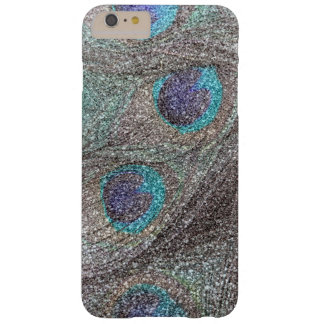 Silver glitter peacock feathers barely there iPhone 6 plus case