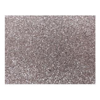 Silver glitter postcard