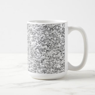 Silver Glitter Printed Basic White Mug