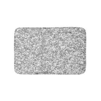 Silver Glitter Printed Bath Mats