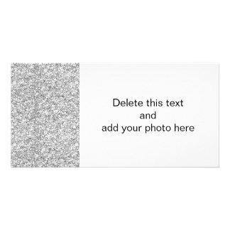 Silver Glitter Printed Photo Card