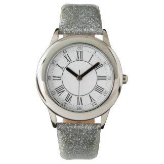 Silver Glitter Roman Numeral Watch