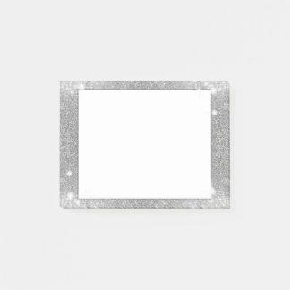 Silver Glitter Sparkle Metal Metallic Look Post-it® Notes