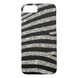 Silver Glitter Zebra Stripe Case