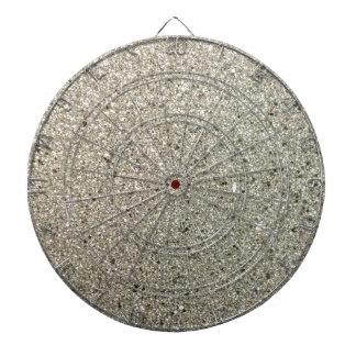 Silver Glittery Paper Dart Boards