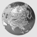 Silver Globe - Asia, 3d Render Sticker