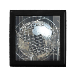 silver globe gift box