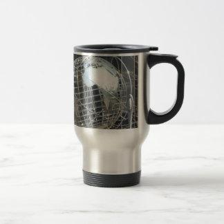 silver globe coffee mug
