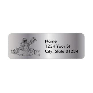 Silver Goaltender Return Address Labels