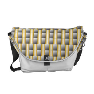 Silver & Gold Abstract Messenger Bag