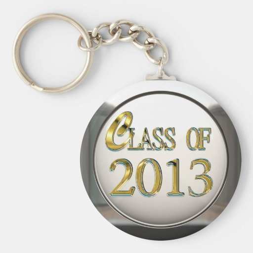 Silver & Gold Class Of 2013 Keychain