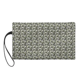 Silver Gold Crochet Stitched Design Purse Clutch Wristlets