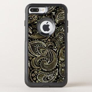 Silver & Gold Elegant Paisley Pattern OtterBox Commuter iPhone 8 Plus/7 Plus Case