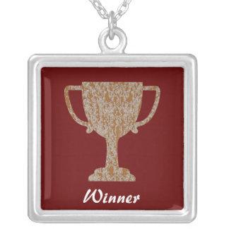 Silver Gold Engraved Award Reward Achiever Pendant