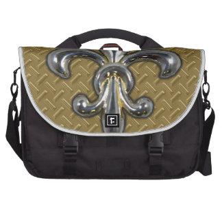 Silver Gold Fleur De Lis New Orleans Laptop Bag
