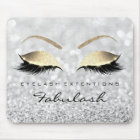 Silver Gold Glitter Branding Beauty Lashes Gray Mouse Mat