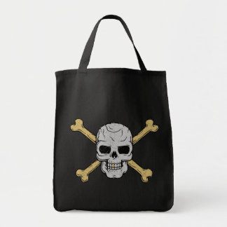 Silver & Gold Grocery Tote Bag