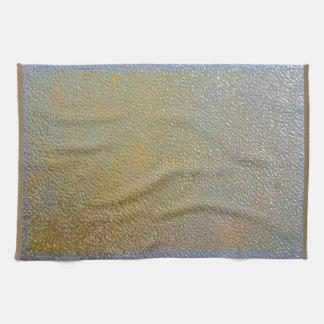 Silver Gold Metal Texture Pattern Look | Elegant Tea Towel