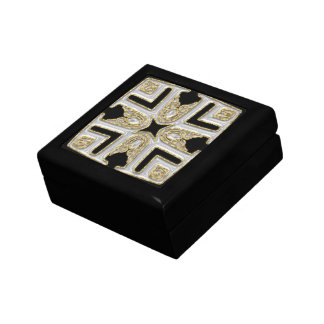 Silver & gold Patterned top Gift Box