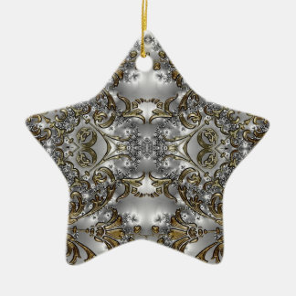Silver + Gold Wedding Attendant Star Ornament