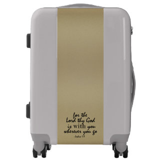 Silver & Gold with Bible Verse Luggage