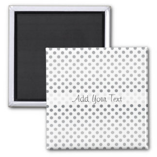 Silver Gradient Polka Dots by Shirley Taylor Magnet