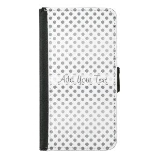 Silver Gradient Polka Dots by Shirley Taylor Samsung Galaxy S5 Wallet Case