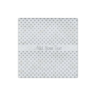 Silver Gradient Polka Dots by Shirley Taylor Stone Magnet