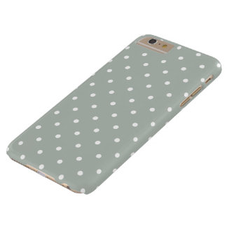 Silver Gray 50s Polka Dot iPhone 6 Plus Case