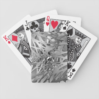 Silver & Gray Abstract Branches Bicycle Playing Cards