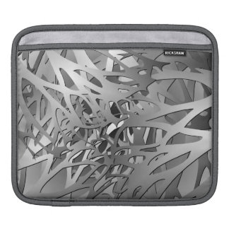 Silver & Gray Abstract Branches iPad Sleeve