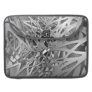 Silver & Gray Abstract Branches Sleeve For MacBook Pro